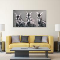 Evstil Zebra Yağlı Boya Tablo