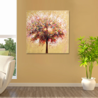 Evstil Renkli Ağaç Tablo