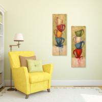 Evstil Renkli Fincanlar İkili Tablo