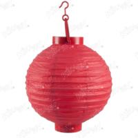 Kikajoy Kırmızı Renk Pilli Japon Feneri 20 cm - 1 adet