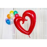 Kikajoy Kıvrımlı Kalp Folyo Balon