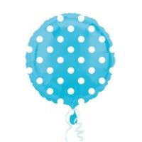 Kikajoy Mavi Üzeri Beyaz Puanlı Folyo Balon 2'li