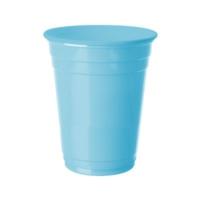 Kikajoy Roll Up Plastik Meşrubat Bardağı Açık Mavi 8 adet