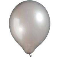 Kikajoy Baskısız Metalik Balon Gümüş - 100 adet