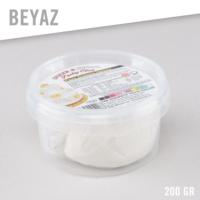 Kikajoy Şeker & Sugar Pasta Süsleme Hamuru / 200 gr. / Beyaz