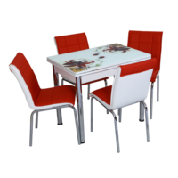Osmanlı Mobilya Mutfak Masa Takımı 60X90Cm Masa + 4 Sandalye