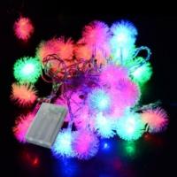 Pandoli Karışık Renkli 28 Ampullü Kar Tanesi Figürlü Pilli Led Işık