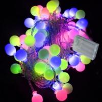 Pandoli Karışık Renkli 28 Ampullü Top Figürlü Pilli Led Işık