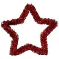 Pandoli Kırmızı Renkli Yıldız Sim Duvar Süsü 40 Cm