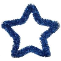 Pandoli Mavi Renkli Yıldız Sim Duvar Süsü 40 Cm