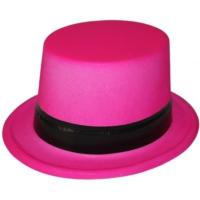 Pandoli Pembe Fosforlu Siyah Kemerli Şapka