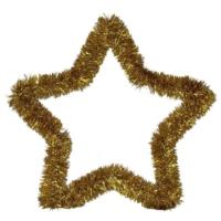 Pandoli Sarı Renkli Yıldız Sim Duvar Süsü 40 Cm