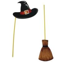 Pandoli Şapka Süpürge Cadı Konuşma Balonu Karton Set