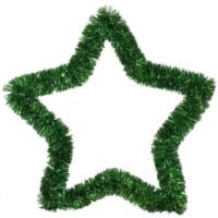 Pandoli Yeşil Renkli Yıldız Sim Duvar Süsü 40 Cm