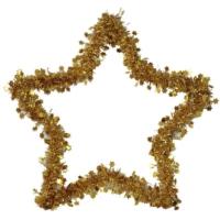 Pandoli Yıldız Simli Parlak Duvar Süsü 40 Cm Sarı