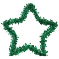 Pandoli Yıldız Simli Parlak Duvar Süsü 40 Cm Yeşil