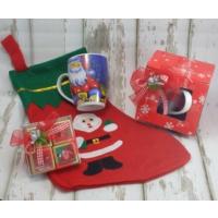 Miss Cici Yılbaşı Hediyelik Noel Baba Kupa Çorap Ve Çikolata Seti