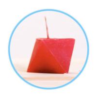 "Candlenmore Tasarım Mumlar - Diamond Serisi - ""Küp"""