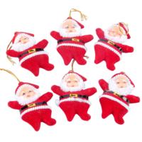 Kikajoy Noel Baba Figürlü Yılbaşı Ağaç Süsü 6 adet