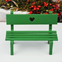 Ahşap Biblo Mini Bank - Yeşil
