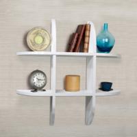 Elips Duvar Rafı, Mini Kitaplık Beyaz