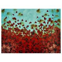 Gül Yaprakları Yağlı Boya Tablo %100 El Yapımı