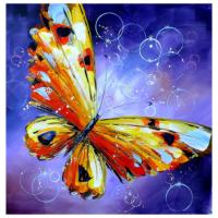 Kelebek 3 Yağlı Boya Tablo %100 El Yapımı