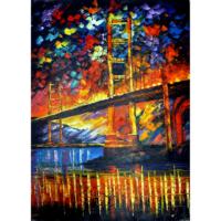 Köprü Yağlı Boya Tablo %100 El Yapımı