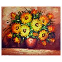 Vazodaki Çiçekler 8 Yağlı Boya Tablo %100 El Yapımı