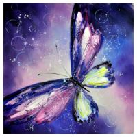 Kelebek 2 Yağlı Boya Tablo %100 El Yapımı