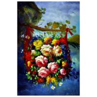 Daldaki Çiçekler Yağlı Boya Tablo %100 El Yapımı