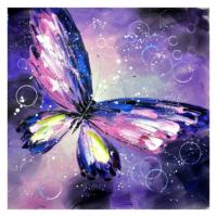 Kelebek 11 Yağlı Boya Tablo %100 El Yapımı