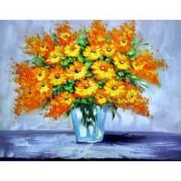Vazodaki Çiçekler 10 Yağlı Boya Tablo %100 El Yapımı