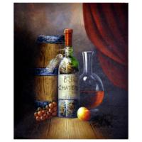 Şarap Yağlı Boya Tablo %100 El Yapımı