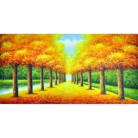 Sonbahar 90x180 Yağlı Boya Tablo %100 El Yapımı