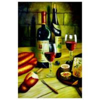 Şaraplar 2 60x90 Yağlı Boya Tablo %100 El Yapımı