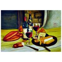 Şaraplar 3 60x90 Yağlı Boya Tablo %100 El Yapımı