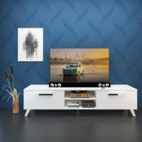 Eyibil Mobilya Güneş 180 cm Parlak Beyaz Tv Sehpası Tv Ünitesi