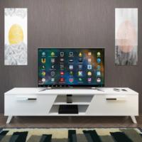 Eyibil Mobilya Yıldız 180 cm Parlak Beyaz Tv Sehpası Tv Ünitesi