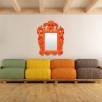 Evstil Turuncu Çerçeveli Ayna