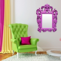 Evstil Mor Çerçeveli Ayna