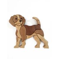 Tahta Rengi Özel Tasarım El Yapımı Köpek