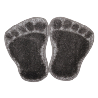 Panda Ayağı Kaymaz Taban Paspas-Antrasit-1 Adet Alana 1 Adet Hediye