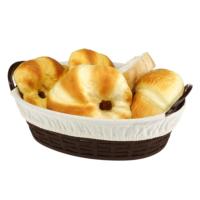 Hasır Desenli Ekmek Sepeti Bezli Büyük 2 Adet A