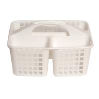 Bölmeli Beyaz Lavabo Düzenleyici Sepet-G562 - Asortili