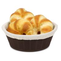 Hasır Desenli Ekmek Sepeti Bezli Büyük 2 Adet