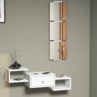 Hepsiburada Home Dresuar Aynalı - Beyaz