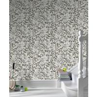 Duvar Kağıtcım Yapraklı Siyah-Beyaz Belçika Duvar Kağıdı