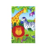 HKostüm Jungle Animals (Hayvan Temalı) Kağıt Masa Örtüsü
