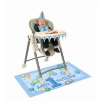 HKostüm Bir Yaş Mavi Doğum Günü Seti